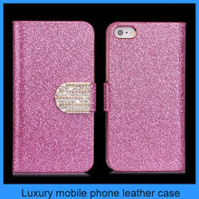 Bling Wallet Luxury PU Leather Magnetic Flip Cover Case Pouch for iPhone 5 5G 5S