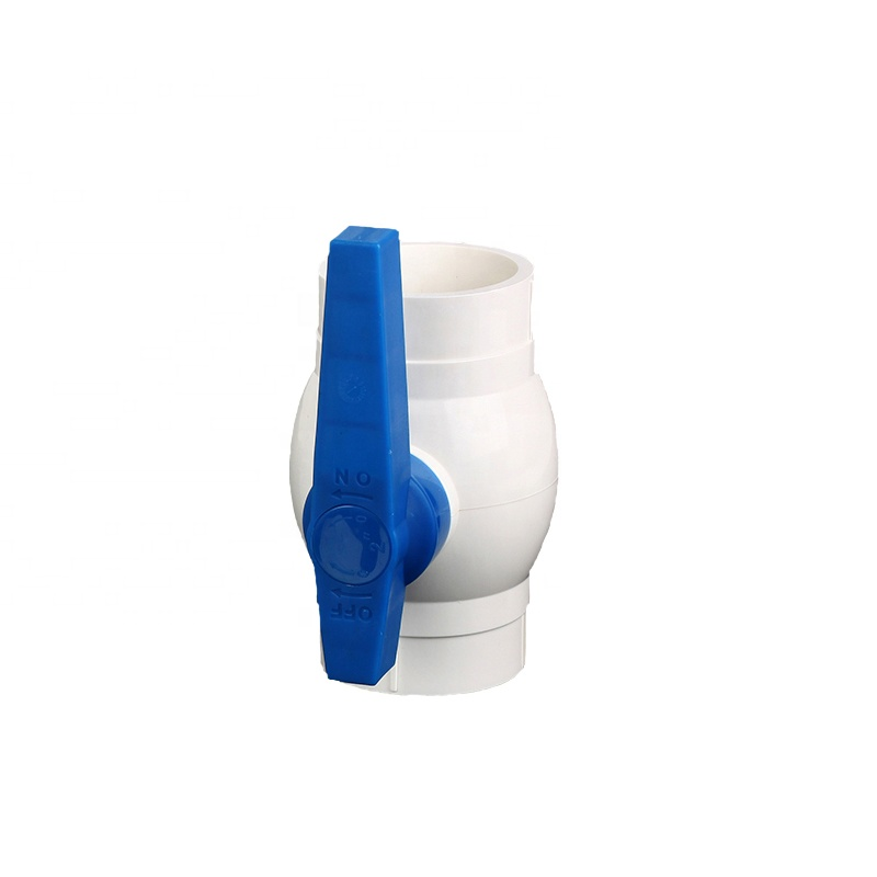 India 2 inch white body blue easy control handle hot sale better plastic PVC ball <strong>valve</strong>