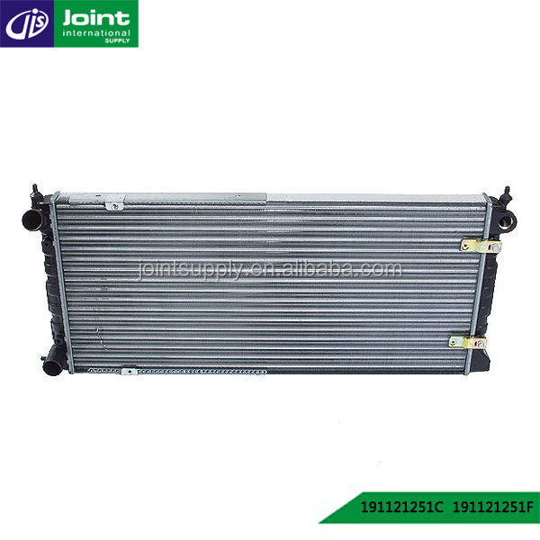 Car aluminum Coolant radiator OEM 191121251C, 191121251F, 191121251B/J, 191121253B/J/D/1GD12 for GOLF(II) / JETTA 08/83-07/85