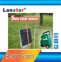 Solar Power Electric Fence Energiser Charger with Adjustable Solar Panel