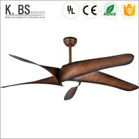 hot sale 60 inch wood grain led ceiling fan remote control for home appliances