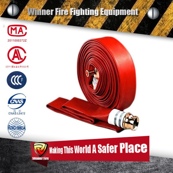 Advance Patterned Twill Wearable thicker PVC Line Fire Hose for pet bite or climbing