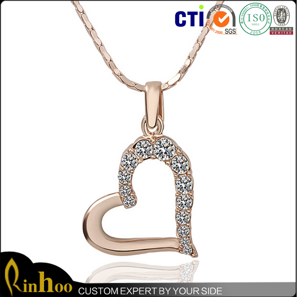 Fashion Jewellery Necklace, Snake Chain Necklace And Heart Pendant Combination Neckalce, Hot Style Snake Chain Necklace
