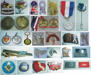 Medals, Lapel Pins, Keychains
