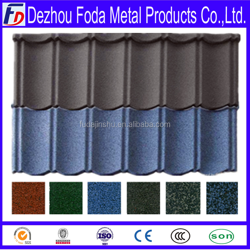 Stone coated metal roof tiles in the world