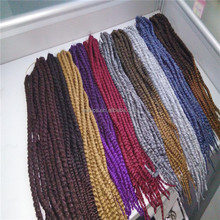 Factory price wholesale multicolor bouncy long havana mambo twist 20inch