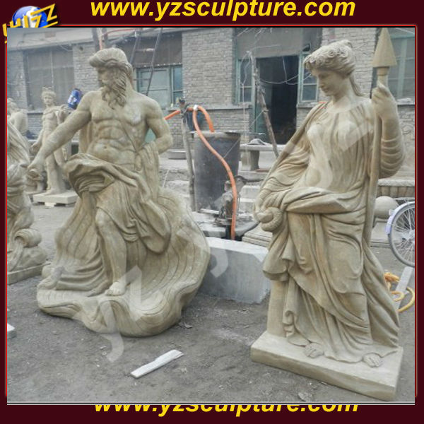 life size antique marble roman soldier statue for sale