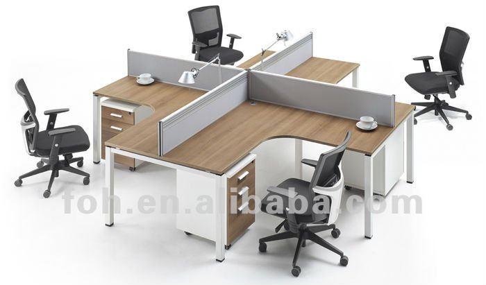 Venta caliente cub culos 4 asientos mesa de oficina cross for Cubiculos para oficina precios