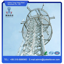 hot dipped galvanized four legged angular mobile tv antenna steel tower China supplier