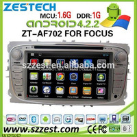 ZESTECH 2014 lastest android car stereo for Ford focus android navigation system with 3g wifi android 4.2.2