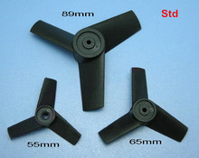 3 Blade Ducted Fan Propeller 55mm/65mm/89mm Propeller CW CCW For Motor Shaft Diameter 3.0mm Fixed-wing RC Aircraft