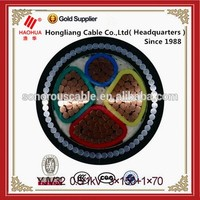 No. 4565-Low voltage 0.6/1kV CU/XLPE/SWA/PVC steel wire armored Copper conductor cable 4 core 25mm 35mm 70mm 95mm copper cable