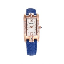 Custom Logo Rectangular Woman Quartz Watches, Classic Diamond Watches