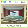 Scratch resistant and anti-crackle 3D epoxy resin home floor coating and paint with good quality