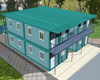 Easy assembly Flexible move double container house storey with high quality