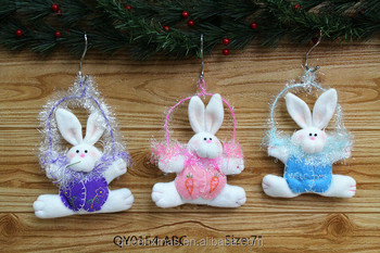 7 inches Low MOQ Hanging Bunny Easter Decoration