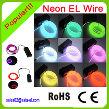 New generation flashing el wire/el cable with 2.3/3.2/5mm diameter for decoration