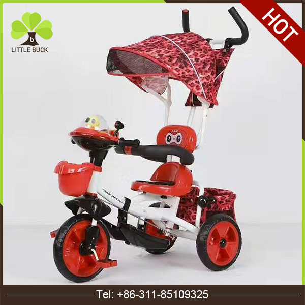 2017 New arrival folding baby tricycle / cheap children tricycle rubber wheels /cheap price Kids Metal Tricycle for sale