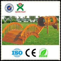 Adventurous and fun wooden playsets/wooden outdoor play equipment/climbing frames QX-078G