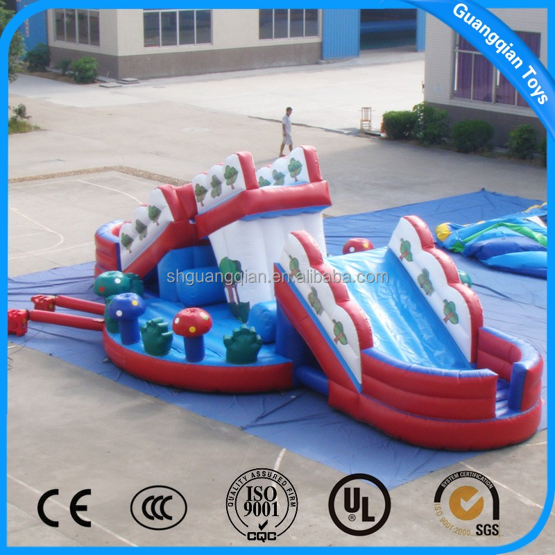 Guangqian Best Selling Kids Small Inflatable Bouncy Castle With Slide