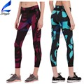 Printed Ankle Length Spandex/Polyester Fitness Yoga Pants for Girls