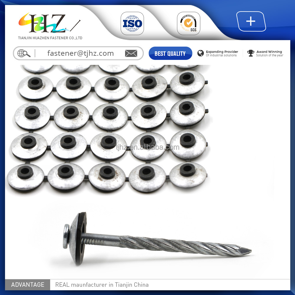 online product selling websites supply <strong>Q195</strong> and Q235 roofing nail with umbrella head twisted shank
