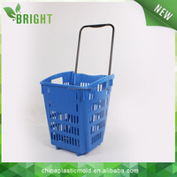 shopping basket with wheels