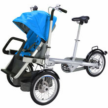 2016 New Steel Mother Baby Carrier 3 In 1Baby Stroller And Child Bike Bicycle