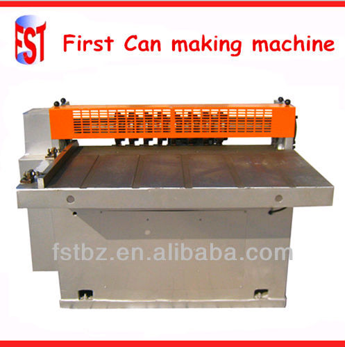 Food Tin Can Making Production Line Cutting Machinery