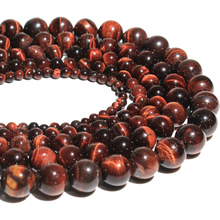 Wholesale AAA + Quality Red tiger eye Natural Stone Round Loose Beads For Making Jewelry DIY Strand