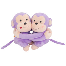 Latest Hot Sale High Quality wholesale soft purple hug monkey plush toys customzied plush toys animals plush toys