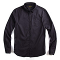 Wholesale bulk men's shirt black brushed cotton casual slim fit shirt