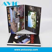 Electronic multimedia LCD Video Greeting Card Automatic video booklet for business
