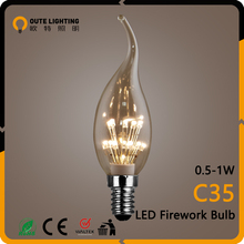 Vintage Style 0.5W 1W Firework C35 China Cheap Led Bulb Light