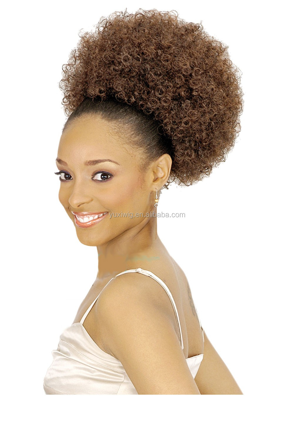 2018 Afro Ponytail Puff In Color #27/natural color