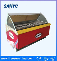 Italian Ice Cream Display Freezer With Customized Design