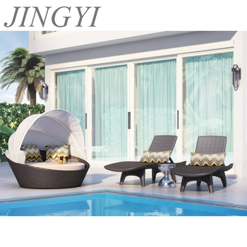 hd designs iron frame pool sun bed patio furniture B188