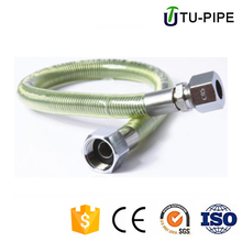 lpg lng Yellow natural gas pipe stainless steel flexible corrugated hose