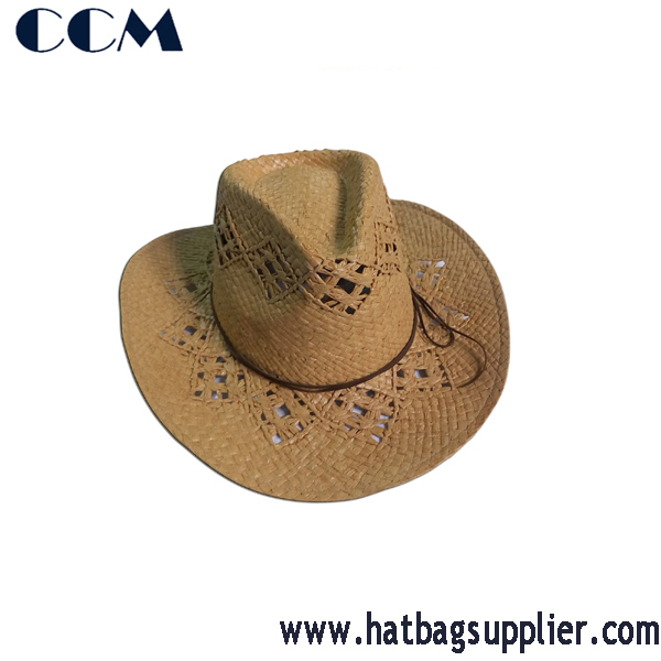 100% Raffia Knitted Thailand Straw Hat Supplier Wholesaler