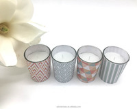 hot sale scented paraffin wax glass jar candles with gift box