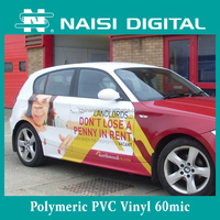 60mic PVC polymeric vinyl film for car wrap