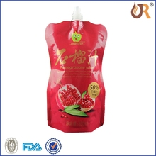 Printed stand up spout pouches for powder food/jelly packaging