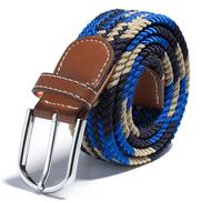 changeable buckles knitted rayon elastic belts