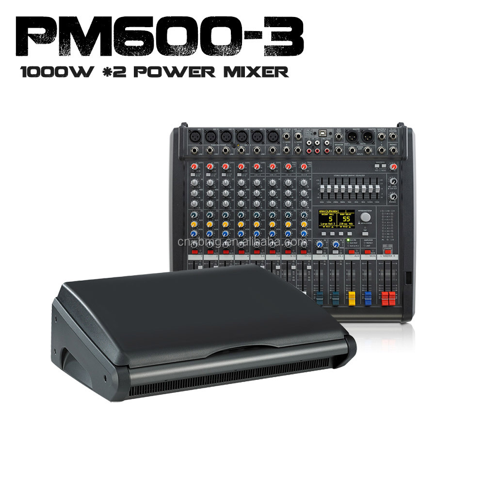 Top 4A 1:1 New Dynacord Powermate 600-3/ Powermate 600-mk3 Power Mixer with Cover