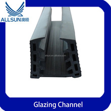 rubber glazing channel