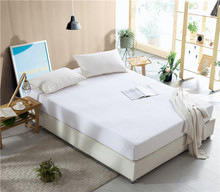 Hypoallergenic Waterproof White Color Bamboo Mattress Protector/Cover