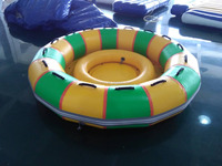 2016 new design Inflatable Air sealed Round boat,inflatable water games,high quality adult games