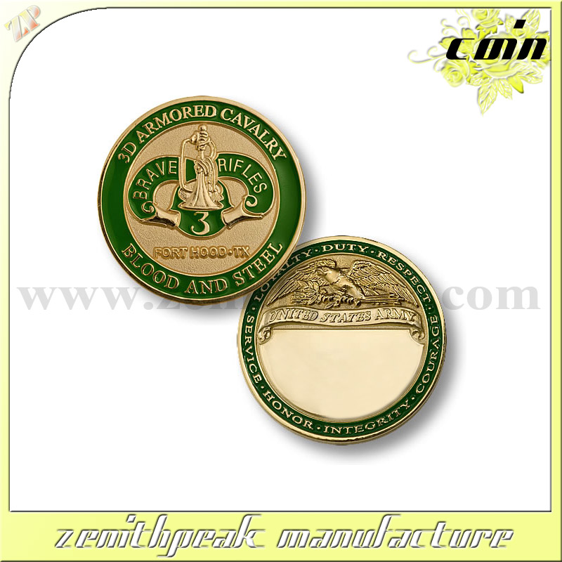 factory made 3D OEM souvenir gold coin with plastic box
