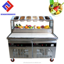 Hot Sale Thailand fry ice cream roll machine flat big single square ice cream cold plate