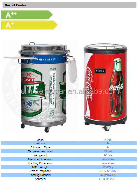 Electric Can Cooler ~ Commercial round barrel electric beverage party cooler